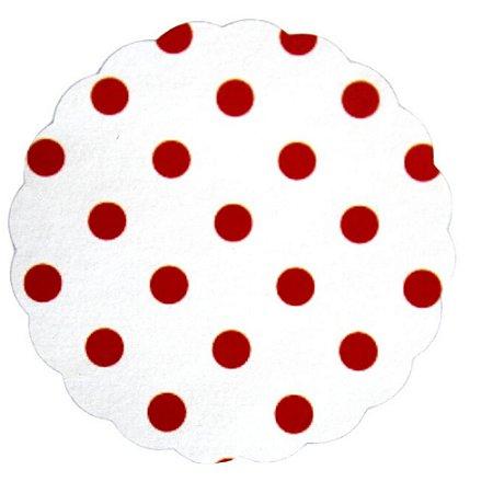 Tapetinhos Fundo para doces Poá Branco e Vermelho - 100Un