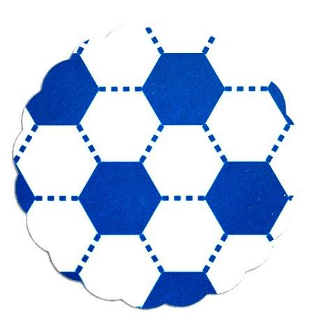 Tapetinhos Fundo para doces Futebol Azul e Branco - 100Un