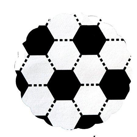 Tapetinhos Fundo para doces Futebol Preto e Branco - 100Un