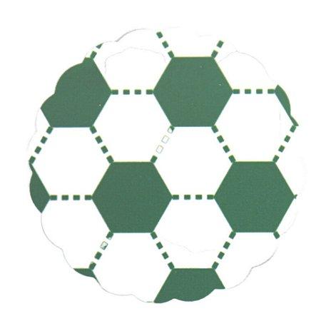Tapetinhos Fundo para doces Futebol Verde e Branco - 100Un