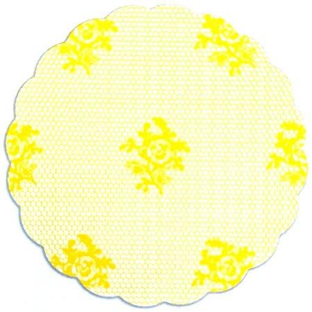 Fundo para doces Rendado Amarelo - Medidas Variadas - 100Un