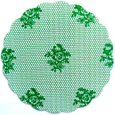 Fundo para doces Rendado Verde Escuro - Medidas Variadas - 100Un