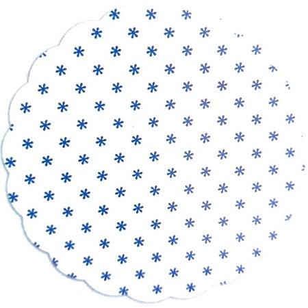 Fundo para doces Asterisco Azul Escuro - Medidas Variadas - 100Un