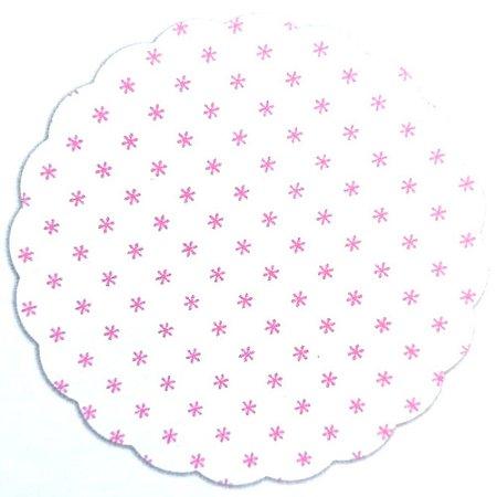Tapetinhos Fundo para doces Asterisco Rosa - 100Un