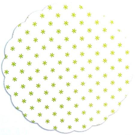 Fundo para doces Asterisco Verde Limão - Medidas Variadas - 100Un