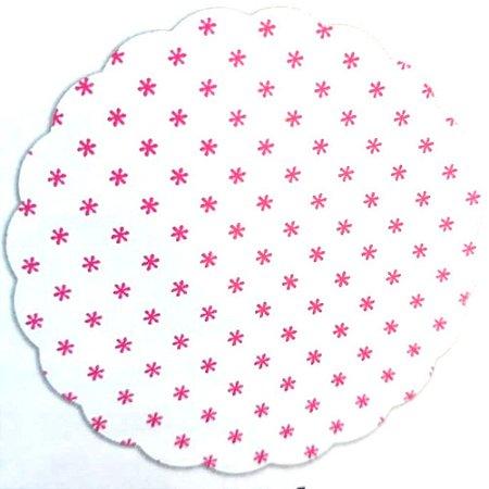 Tapetinhos Fundo para doces Asterisco Pink - 100Un
