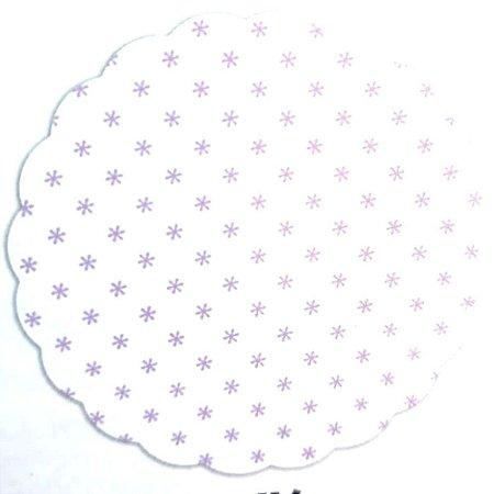 Fundo para doces Asterisco Lilás- Medidas Variadas - 100Un