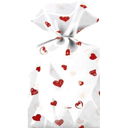 Saco Decorado Coração Vermelho - Medidas Variadas