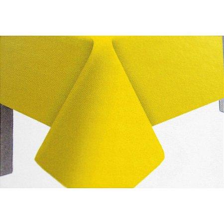 Toalha de Mesa Plástico Lisa Amarelo - 10 unidades - Medidas Variadas