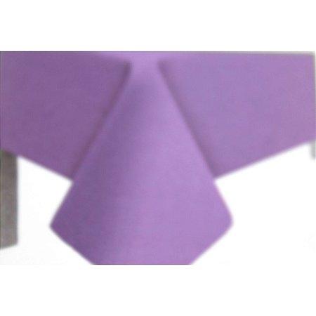 Toalha de Mesa Plástico Lisa Lilás - 10 unidades - Medidas Variadas