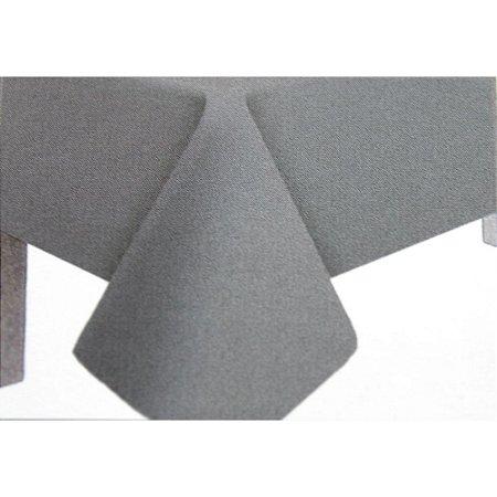 Toalha de Mesa Plástico Lisa Prata - 10 un - Medidas Variadas