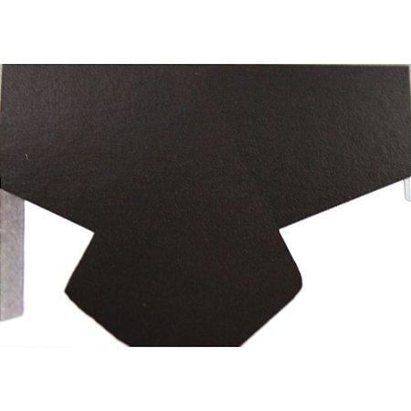 Toalha de Mesa Plástico Lisa Preto - 10 unidades - Medidas Variadas