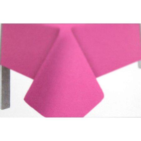 Toalha de Mesa Plástico Lisa Rosa - 10 unidades - Medidas Variadas