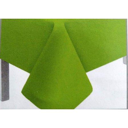 Toalha de Mesa Plástico Lisa Verde Limão - 10 unidades - Medidas Variadas