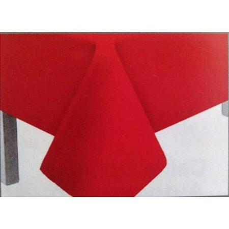 Toalha de Mesa Plástico Lisa Vermelho - 10 unidades - Medidas Variadas