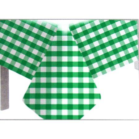 Toalha de Mesa Plástico Xadrez Verde Escuro - 10 unidades - Medidas Variadas