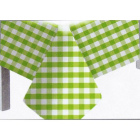Toalha de Mesa Plástico Xadrez Verde Limão - 10 unidades - Medidas Variadas