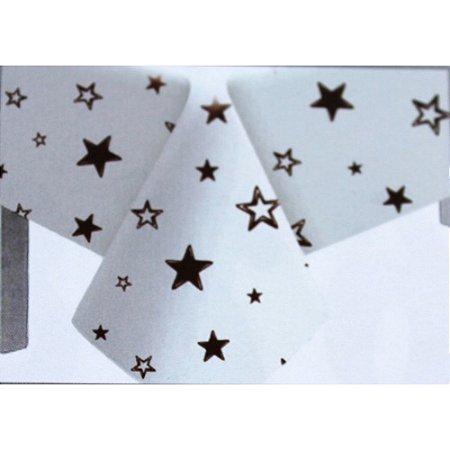 Toalha de Mesa Plástico Estrela Marrom - 10 un - Medidas Variadas