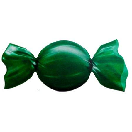 Embalagem para Trufas e Bombons 15x16cm Lisa Verde Escuro