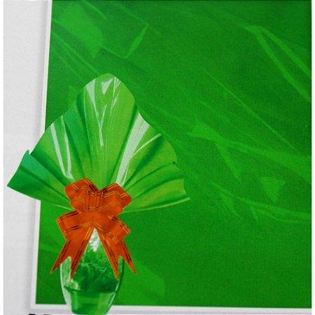 Embalagem Folha Poli Páscoa 69 x 89 cm Verde - Quantidade Variada