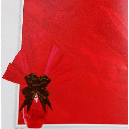 Embalagem Folha Poli Páscoa 69x89 Vermelho - 25un