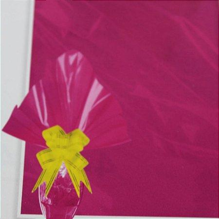 Embalagem Folha Poli Páscoa 69x89 Pink - 25un