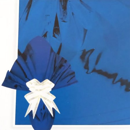 Folha Poli Metalizado Páscoa 69x89 Azul - 25Un