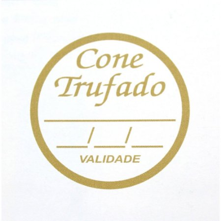Etiqueta Adesiva Cone Trufado Sabor e Validade - 100 un