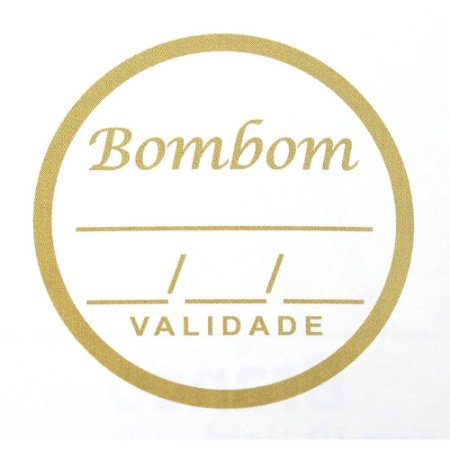 Etiqueta Adesiva Bombom Sabor e Validade - 100 unidades