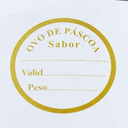 Etiqueta Adesiva Páscoa Validade e Peso - 100 unidades