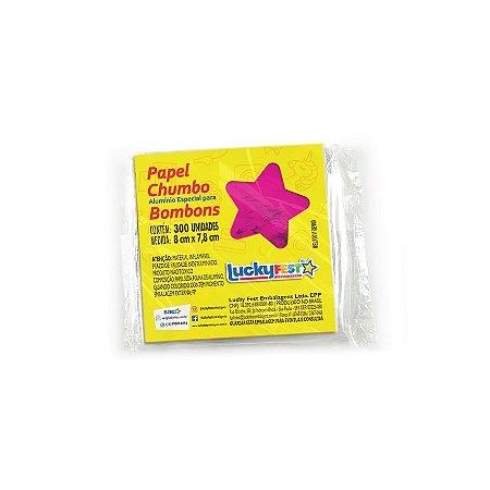 Papel Chumbo para Bombons - Pink -  8x7,8cm - 300 Folhas