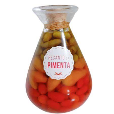 Conserva de Pimenta Gourmet - Vidro Químico 310gr Pimenta Cumari, Fidalga e Malagueta