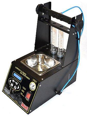 Máquina de limpeza e teste de bicos injetores para Motos