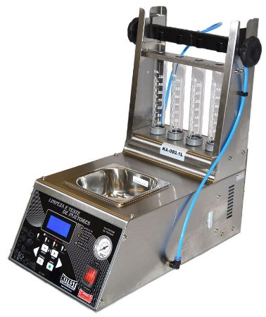 Máquina de teste e limpeza de bicos injetores - Inox 1 litro