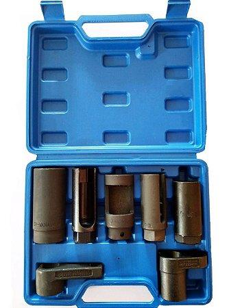 Jogo de soquetes p/ sensor de oxigênio 7 peças