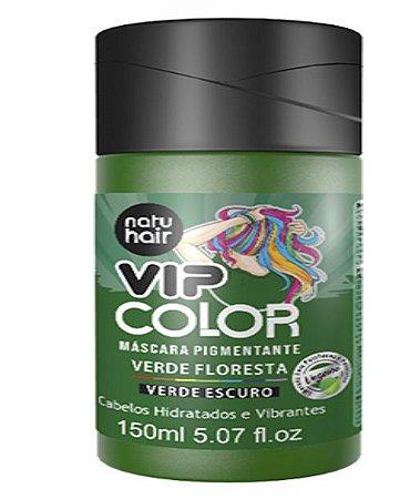 Máscara Pigmentante Vip Color Verde Floresta (Verde Escuro) Natuhair 150ml