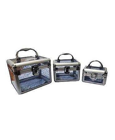 Kit com 3 Maletas Transparente HC82336