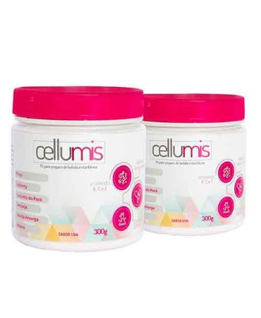 Cellumis Kit com 2 300g Sabor Uva
