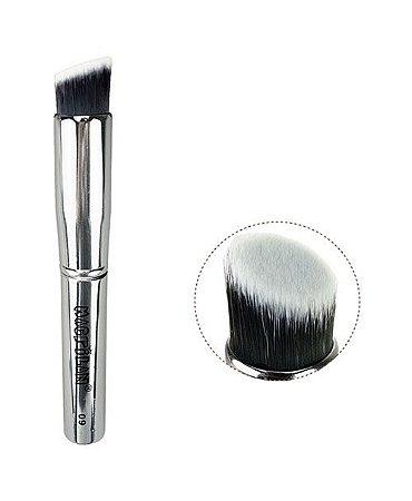 Pincel de Maquiagem Kabuki Chanfrado Silver Macrilan S-09