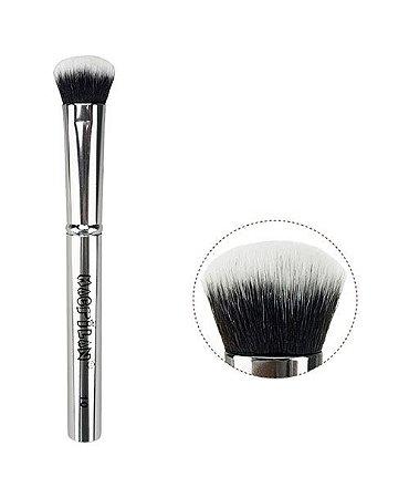 Pincel de Maquiagem Iluminador Silver Macrilan S-10