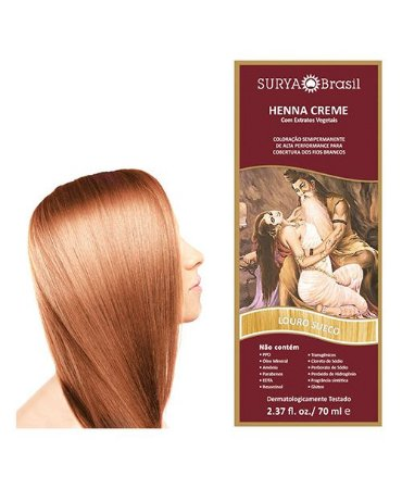 Henna Creme Louro Sueco Surya Brasil 13.6 P 70ml