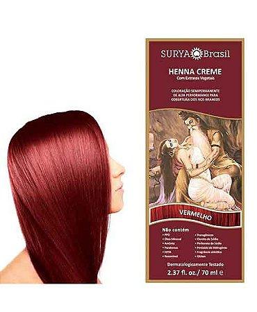 Henna Creme Vermelho Surya Brasil 13.8 P 70ml