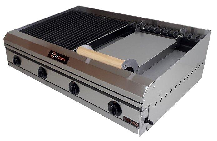Char Broiler Di Cozin a Gás CBD-860 - de Bancada - Grelhas - Chapa - Prensa