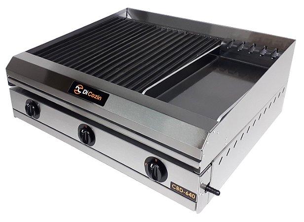Char Broiler Di Cozin a Gás CBD-640 - de Bancada - Grelhas - Chapa
