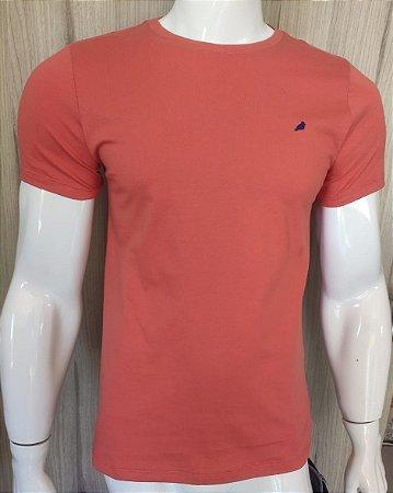 Camiseta Marrom Gola Redonda Enfim