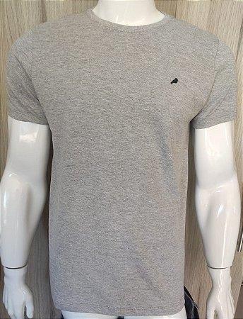 Camiseta Cinza com Gola Redonda Enfim