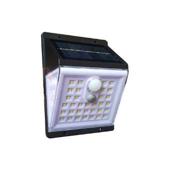 Luminaria Solar Parede Sensor Movimento Externa 45 leds + cabo aux