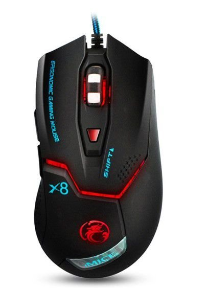 Mouse Gamer X8 com led RGB 3200 DPI