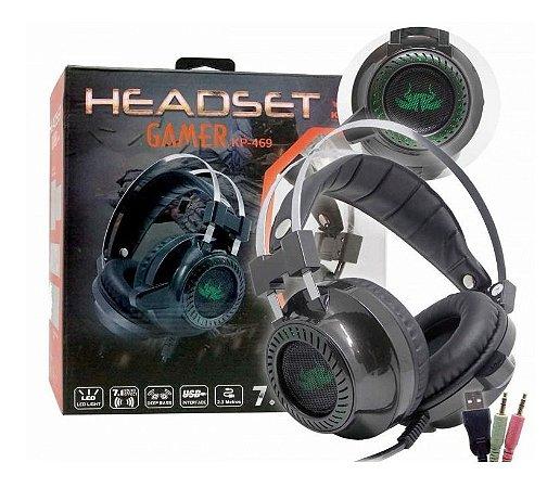 Fone Gamer Headset 7.1 Sound Effect P2 Usb Knup Kp-469