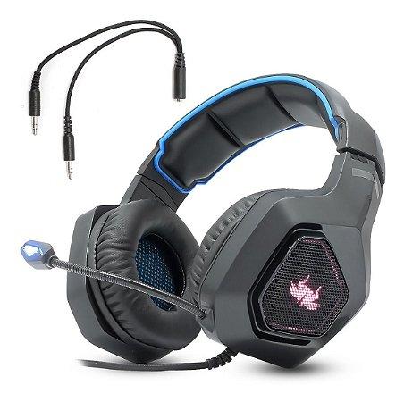 Fone de ouvido Headset Gamer 7.1 P2 Pc Ps4 Xbox One Celular